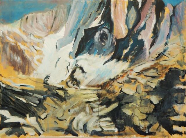 Le chaos.  Peinture acrylique sur toile. 50X70 cm, 2013