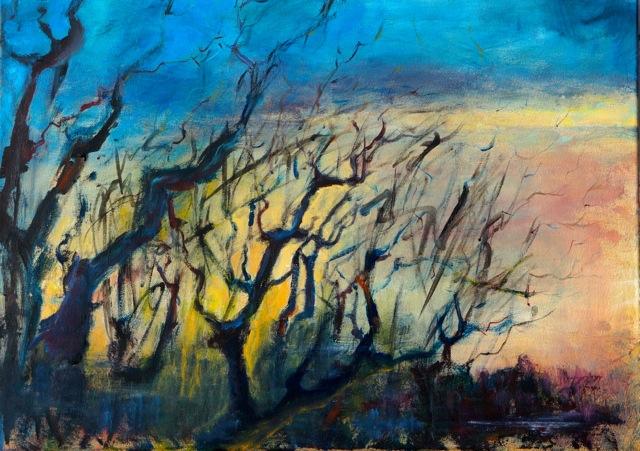 Lutte contre le désert. Peinture acrylique sur toile. 50x70 cm. 2016