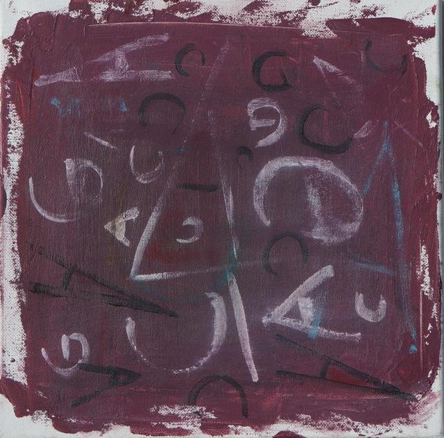 Hasard ou nécessité ? Peinture acrylique sur toile, 30x30 cm, 2016