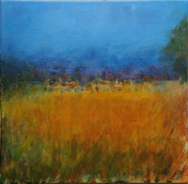 L'été à la campagne. Peinture acrylique sur toile. 30X30 cm. 2016