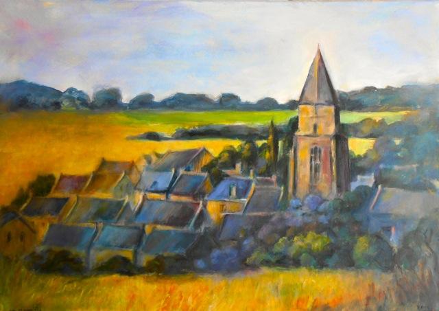 Saint-Sulliac en Bord de Rance. Bretagne. Peinture acrylique sur toile. 50X70 cm. 2015