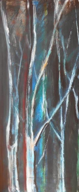 La forêt. Peinture acrylique sur toile. 70x76 cm. 2016