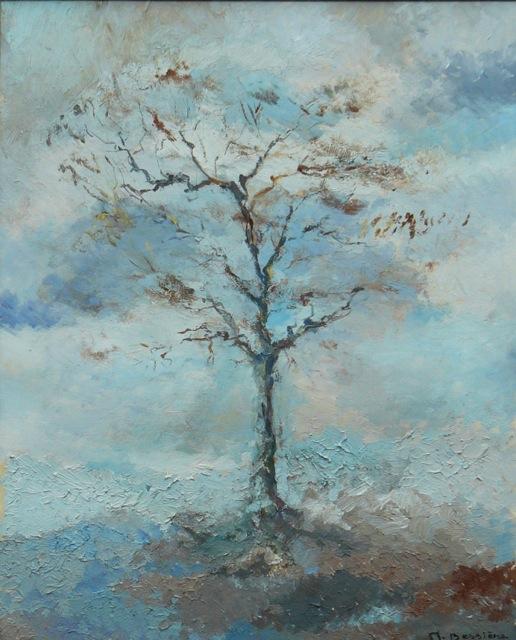 Fin de l'automne. Peinture à l'huile sur toile.  50x70cm