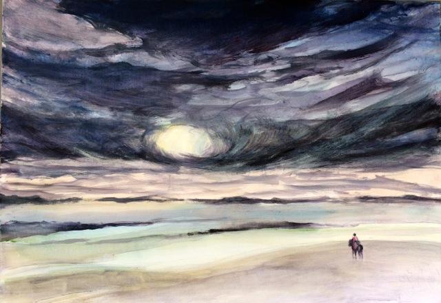 L'esprit du ciel. Peinture acrylique sur toile. 50X70 cm, 2017