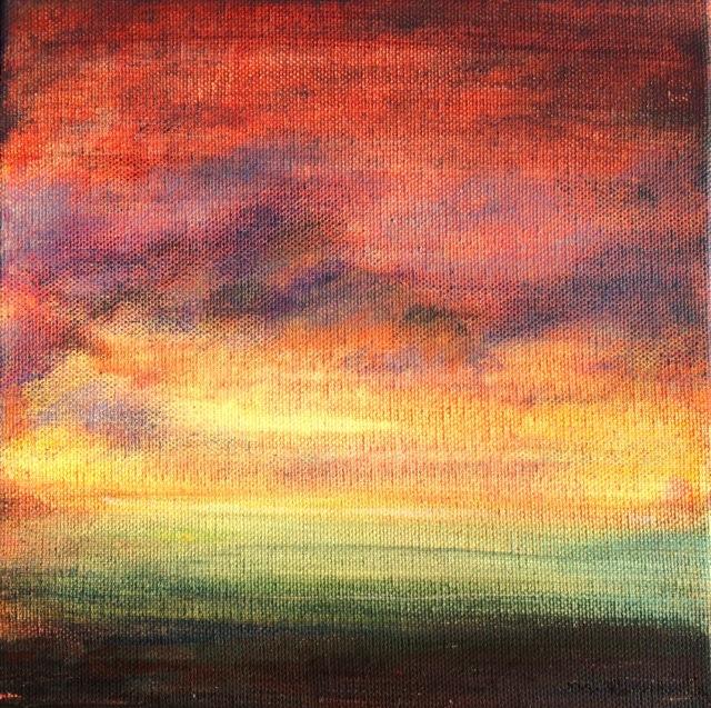 Elévation. Peinture acrylique sur toile. 30X30 cm, 2017