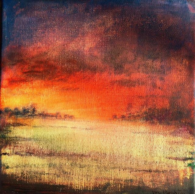 Evasion. Peinture acrylique sur toile. 30X30 cm, 2017