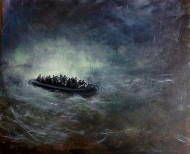 La condition humaine, Peinture acrylique sur toile, , 73x60 cm, 2016