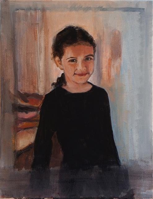 Maya, la demoiselle.  Peinture acrylique sur toile. 30X40 cm. 2013