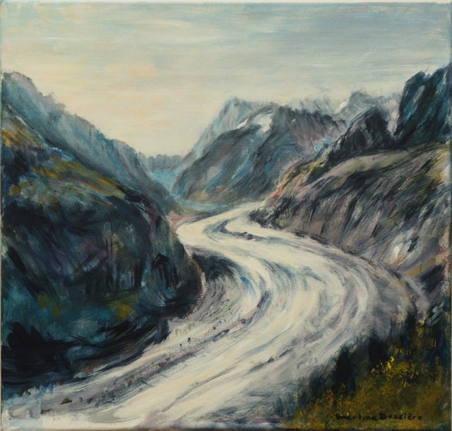 Mer de glace. Peinture acrylique sur toile. 40X40 cm, 2013