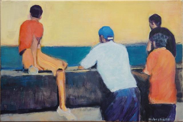 Cuba. Le Malecòn à La Havane, Peinture acrylique sur toile, 41x27 cm, 2014