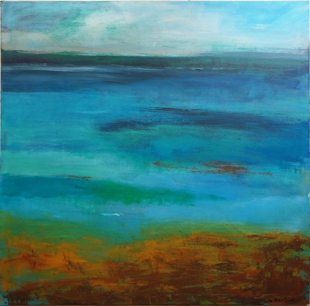 Bleu lagon, Peinture acrylique sur toile. 8-70x70 cm, 2015