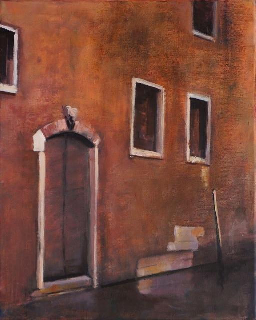 Façade à Venise. Peinture acrylique sur toile. 30X40 cm, 2013