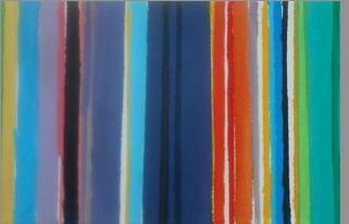 jeu de couleurs. Peinture acrylique sur toile. 20x60 cm. 2016