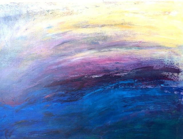 Sérénité. Peinture acrylique sur toile. 50X70 cm. 2017