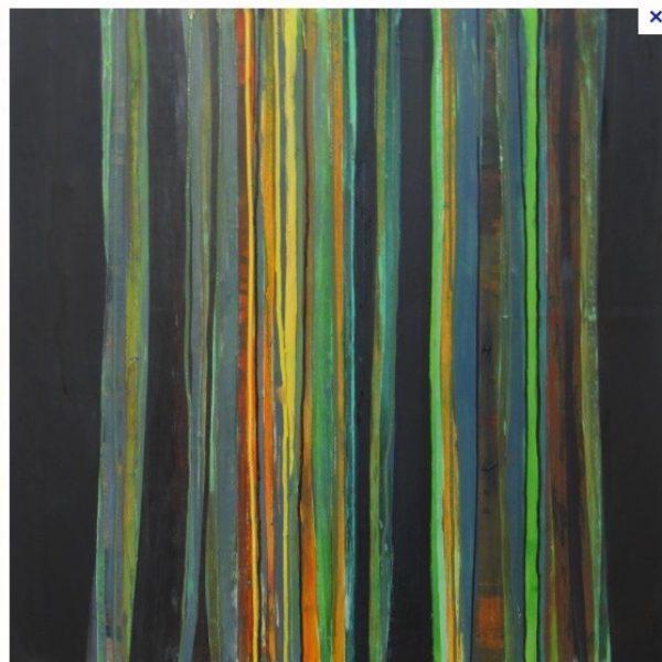 Etude abstraote d'arbres.40x40-2018